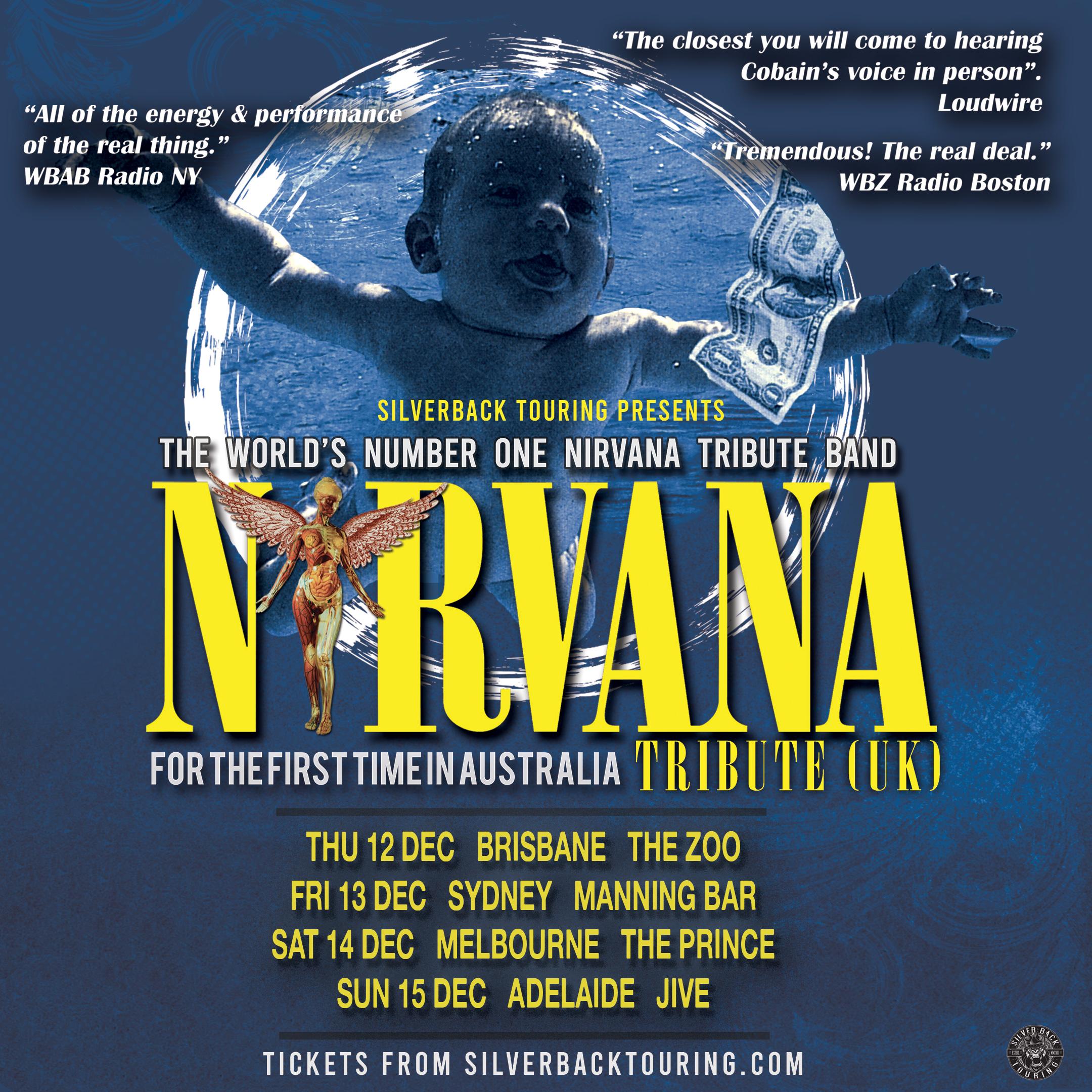 NIRVANA TRIBUTE (UK) tickets (Manning Bar) from Manning Bar