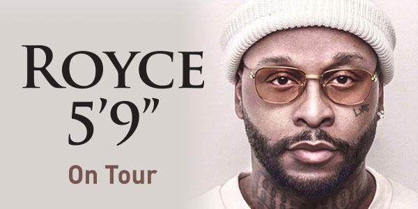 "WIN 1 OF 3 DOUBLE PASSES TO ROYCE 5'9""S BYRON BAY SHOW!"